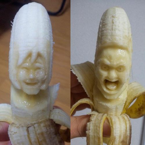 Sculptures sur Bananes 3
