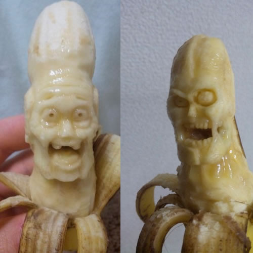Sculptures sur Bananes 4