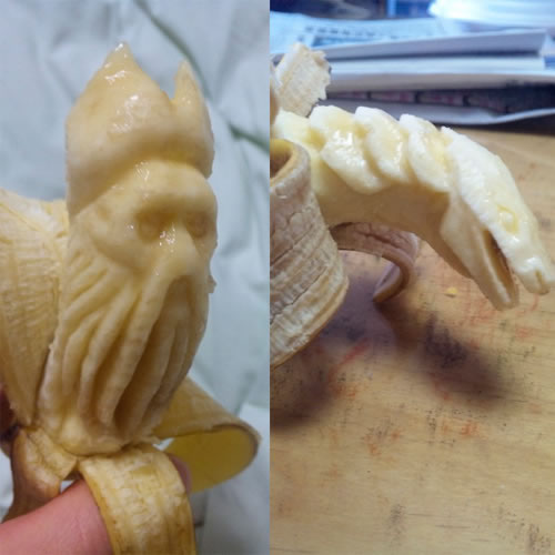 Sculptures sur Bananes 5