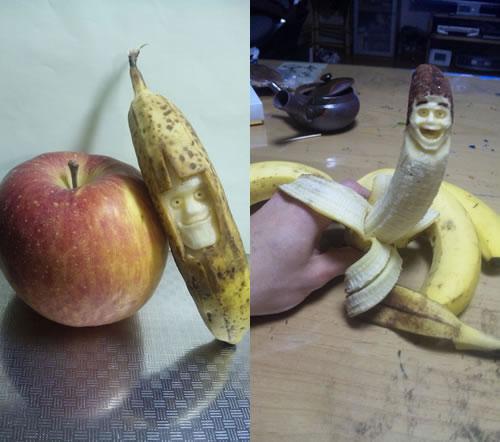 Sculptures sur Bananes 6