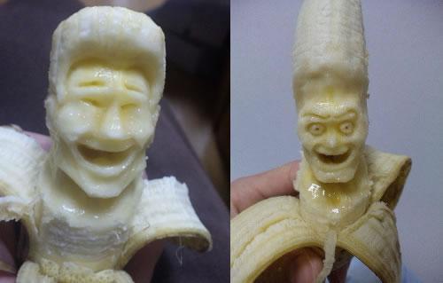 Sculptures sur Bananes 7
