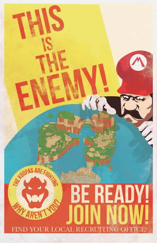 Les affiches de propagande Mario 5