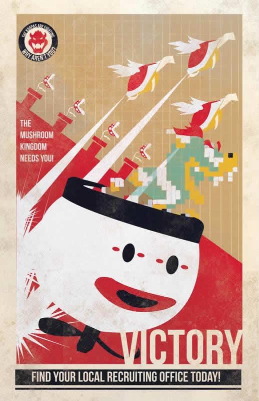 Les affiches de propagande Mario 3
