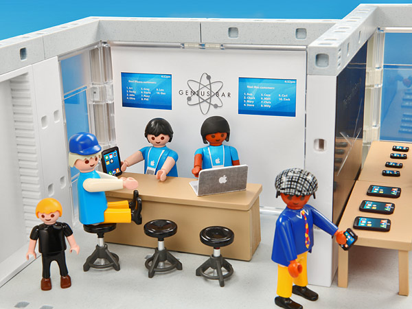 Un Apple Store en Playmobil 2