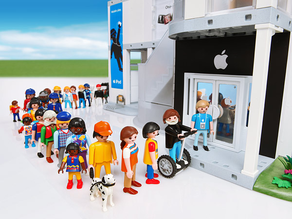Un Apple Store en Playmobil 5