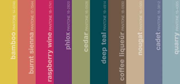 Les couleurs pantone tendances pour l'automne 2011 5