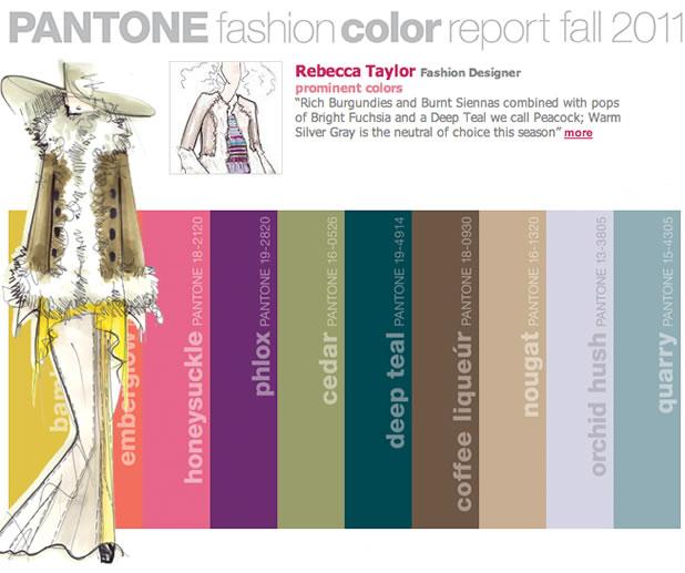 Les couleurs pantone tendances pour l'automne 2011 2
