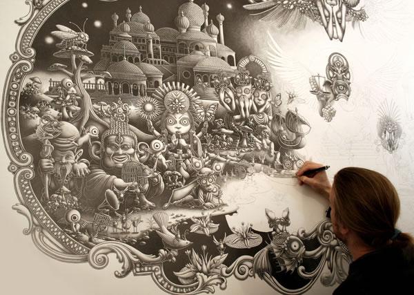 #claquedujour Immense incroyable fresque - Solitude  3