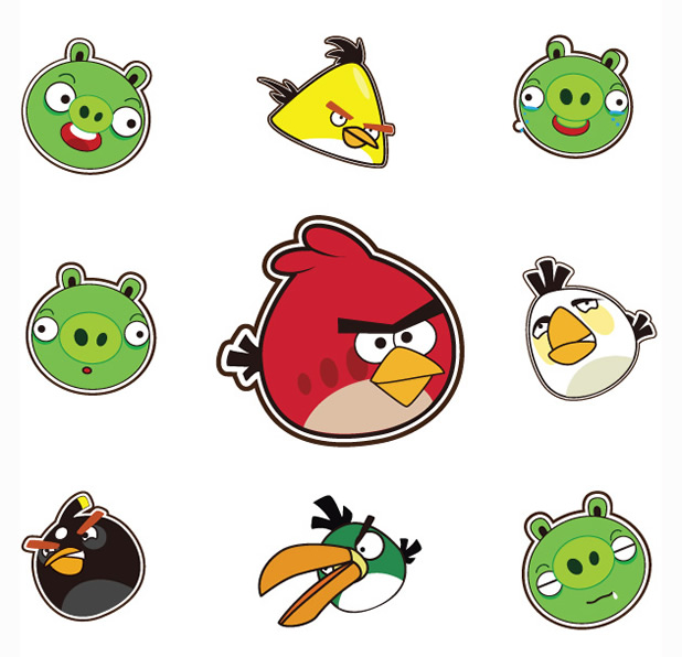 500+ icônes Angry birds 5