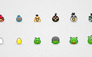 500+ icônes Angry birds