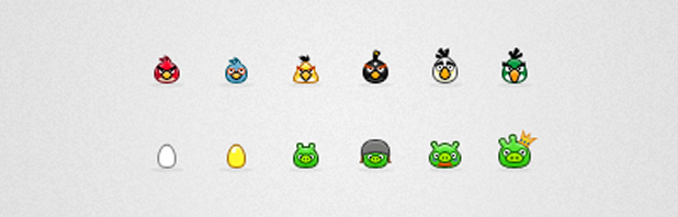 500+ icônes Angry birds 2