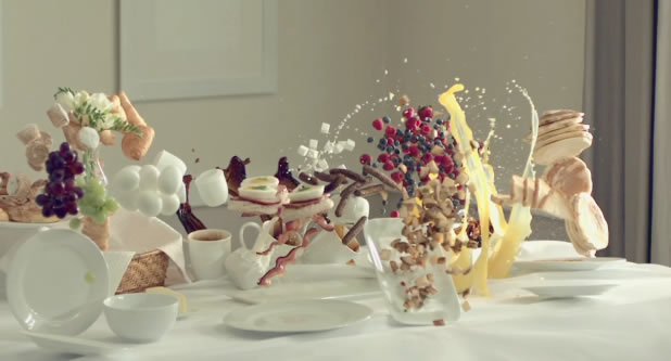 Breakfast Interrupted - Slow motion 1000fps 3