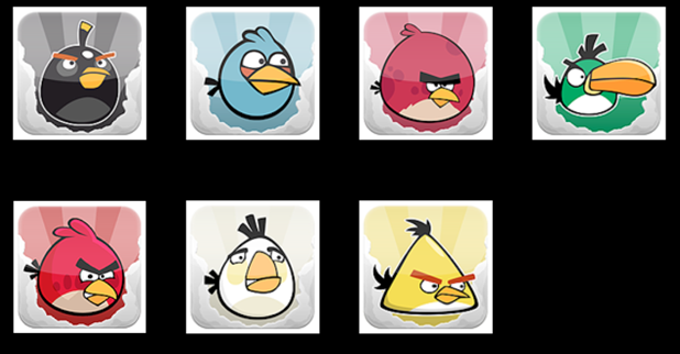 500+ icônes Angry birds 4