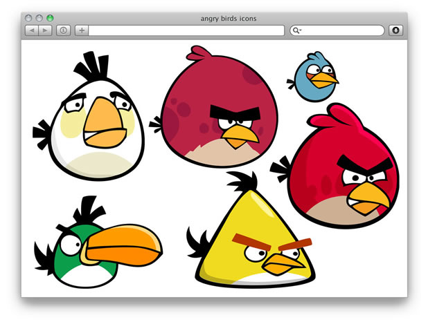 500+ icônes Angry birds 3