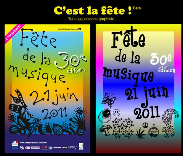 C'est la fête de la musique - générateur de l'affiche 2011 2