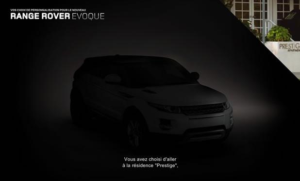 Campagne interactive Range Rover - C'est vous qui décidez de l'avenir d'Henry 5
