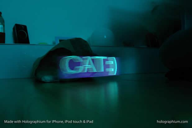 Créer une typographie Holographique avec holographium et un Iphone 2