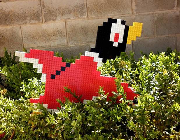 Un curieux mélange de PixelArt de jeuxvidéos et de LEGO 2
