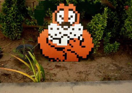 Un curieux mélange de PixelArt de jeuxvidéos et de LEGO 1
