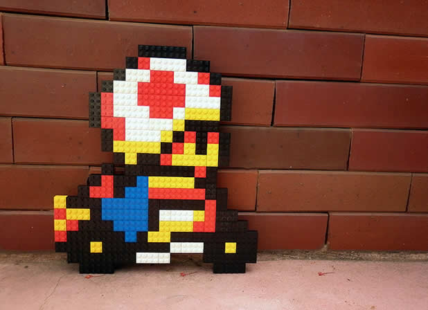 Un curieux mélange de PixelArt de jeuxvidéos et de LEGO 4