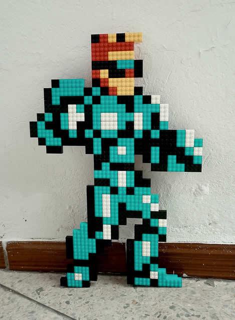 Un curieux mélange de PixelArt de jeuxvidéos et de LEGO 12