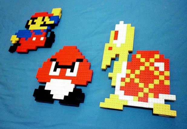 Un curieux mélange de PixelArt de jeuxvidéos et de LEGO 13