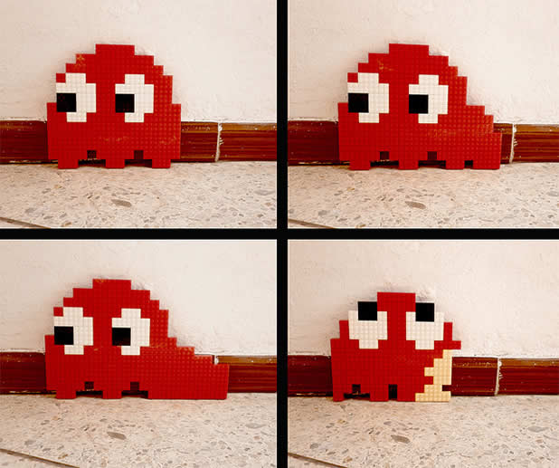Un curieux mélange de PixelArt de jeuxvidéos et de LEGO 16