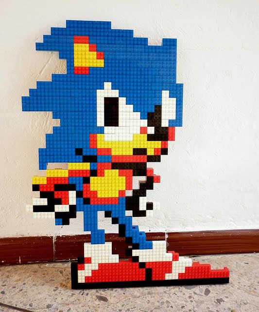 Un curieux mélange de PixelArt de jeuxvidéos et de LEGO 20