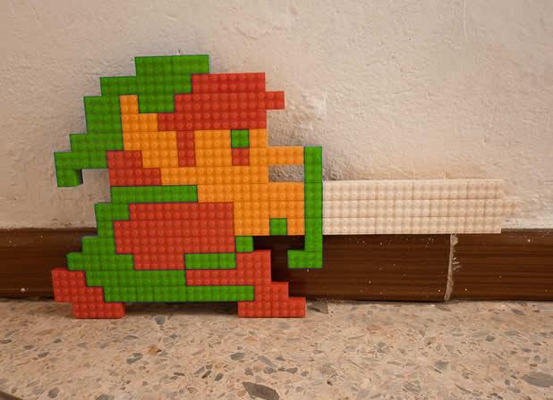 Un curieux mélange de PixelArt de jeuxvidéos et de LEGO 21