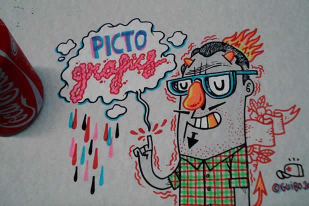 El Guibo - Le mec qui dessine sur la table du resto 5