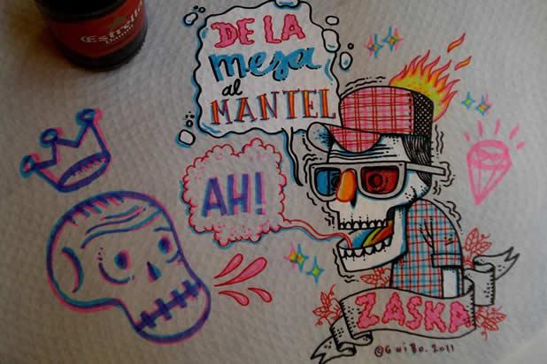 El Guibo - Le mec qui dessine sur la table du resto 6