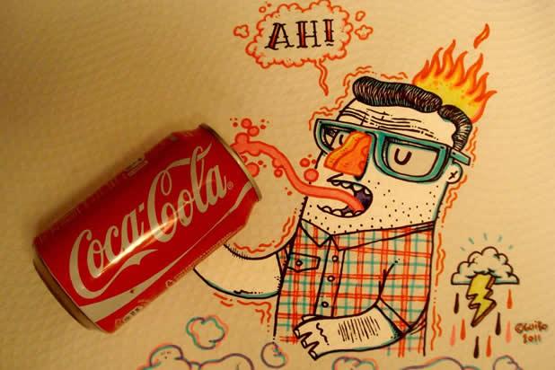 El Guibo - Le mec qui dessine sur la table du resto 16