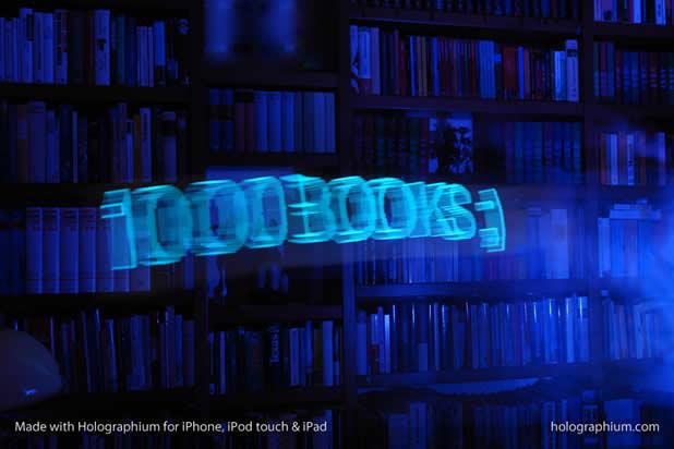 Créer une typographie Holographique avec holographium et un Iphone 5
