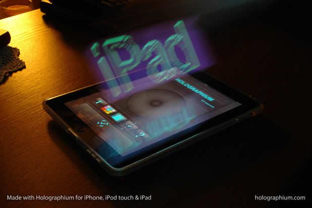 Créer une typographie Holographique avec holographium et un Iphone 6
