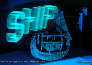 Créer une typographie Holographique avec holographium et un Iphone 1