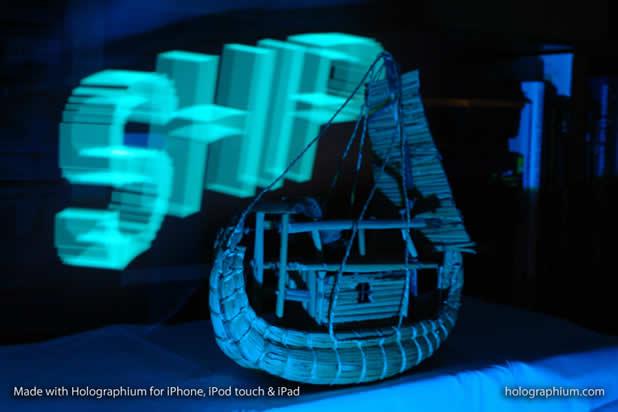 Créer une typographie Holographique avec holographium et un Iphone 7