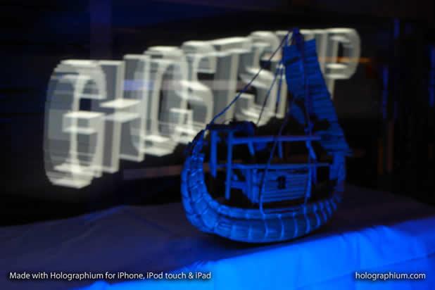 Créer une typographie Holographique avec holographium et un Iphone 8