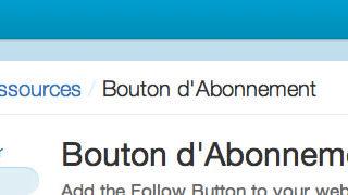 Un bouton Follow en 1 clic Twitter