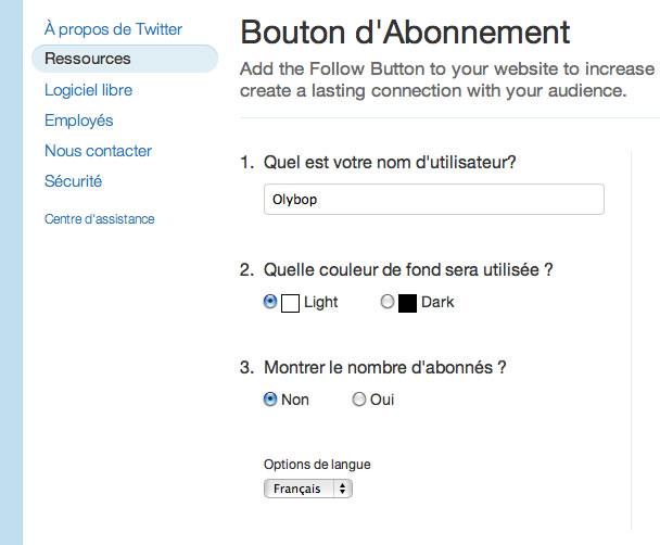 Un bouton Follow en 1 clic Twitter 3