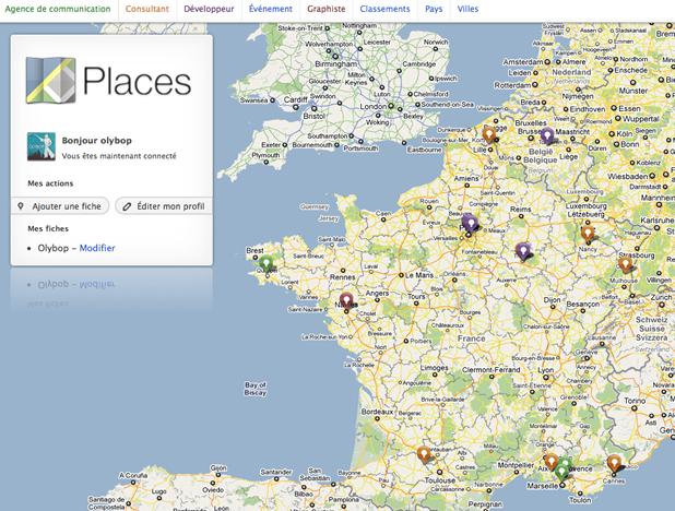 """""""Places"""" Géo-annuaire et réseau de compétences professionnels 2"""