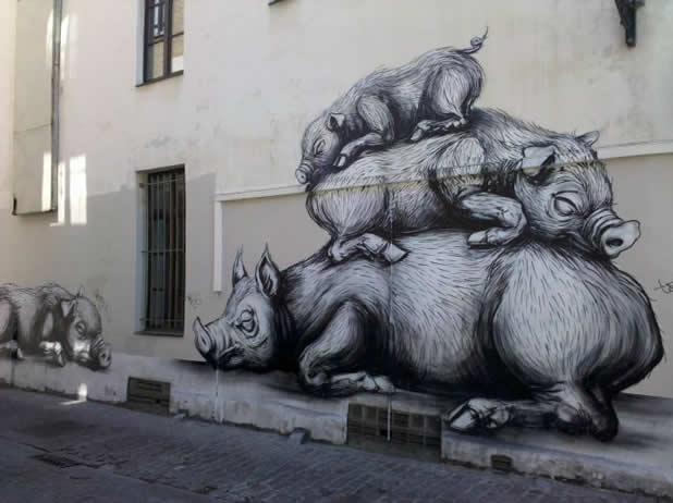 13 streetart design creatif v5 20 Street Art Fun et créatifs – vol5