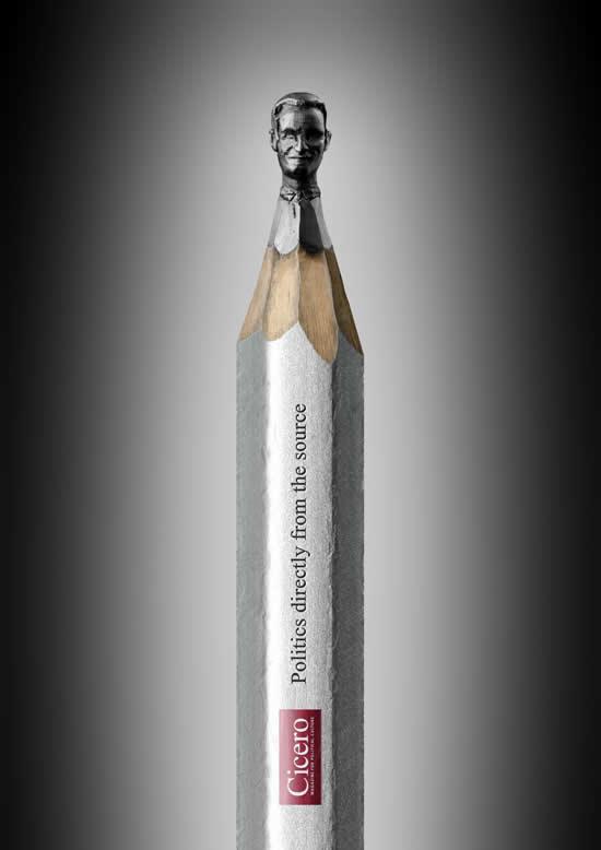 Obama, Merkel et  Sarkozy sculptés sur des mines de crayons 5