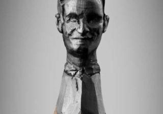 Obama, Merkel et  Sarkozy sculptés sur des mines de crayons 1
