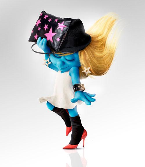 La schtroumpfette est un accessoire de mode. 2
