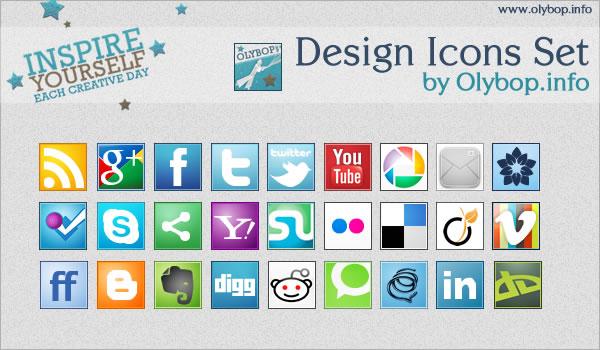 Pack Icônes design réseaux sociaux #2 2