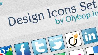 Pack Icônes design réseaux sociaux #2