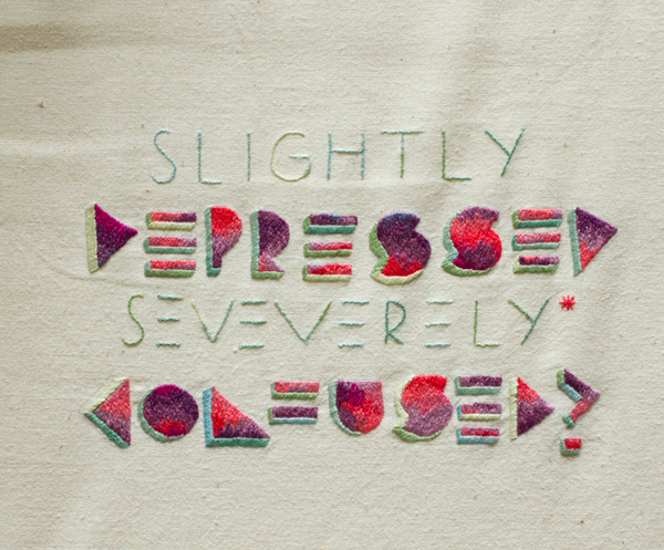 typographie colorée en broderie 16