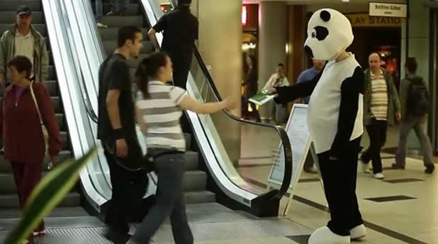 Des Pandas WWF dans un centre commercial 2