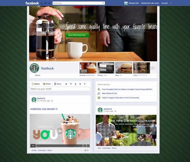 Les nouveaux profils des plus grandes marques présentes sur Facebook 2