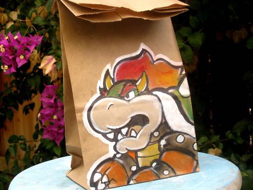 De beaux dessins sur des sacs en papier 4